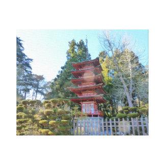 Japanese Tea Garden Pagoda Gallery Wrapped Canvas