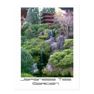 Japanese Tea Garden Waterfall Postcard
