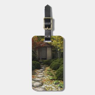 Japanese Tea House and Garden in Autumn Luggage Tag