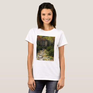 Japanese Tea House and Garden in Autumn T-Shirt