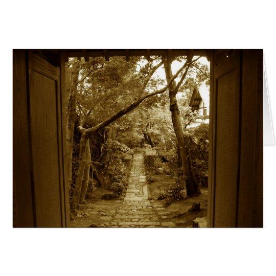 Japanese Temple Garden Sympathy Card