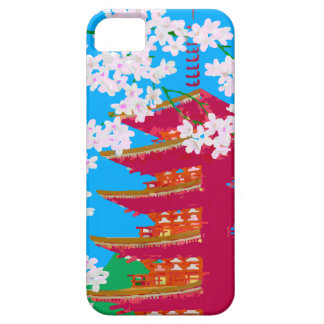 Japanese temple with cherry blossom iPhone 5 cover