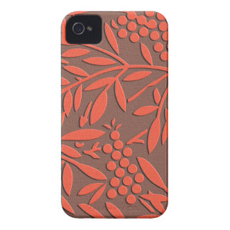 Japanese textile Leaves and berries iPhone 4 Case