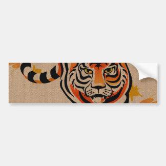 japanese tiger art bumper sticker