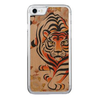 japanese tiger art carved iPhone 8/7 case