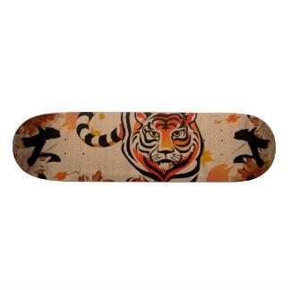 japanese tiger art 18.1 cm old school skateboard deck