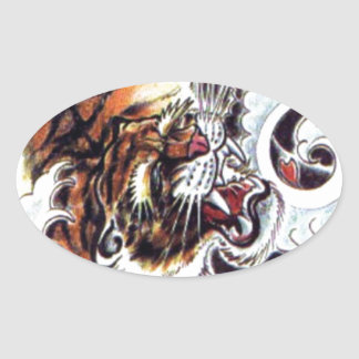 Japanese Tiger Tattoo Stickers