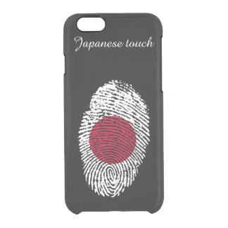Japanese touch fingerprint flag clear iPhone 6/6S case