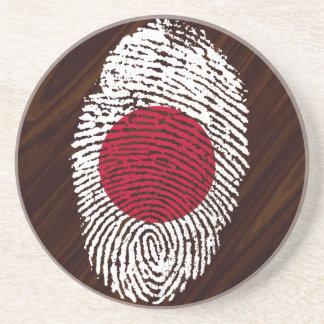 Japanese touch fingerprint flag coaster
