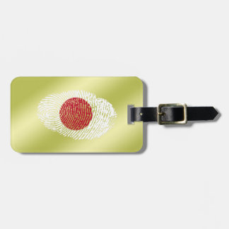 Japanese touch fingerprint flag luggage tag