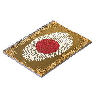 Japanese touch fingerprint flag notebooks