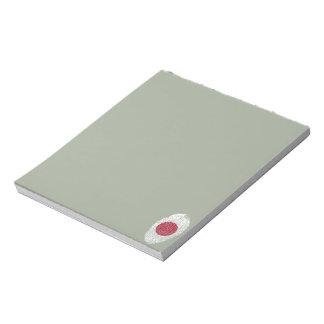 Japanese touch fingerprint flag notepad