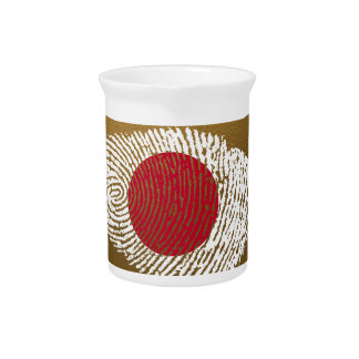 Japanese touch fingerprint flag pitcher