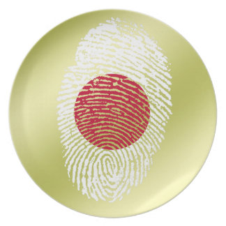 Japanese touch fingerprint flag plate