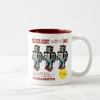 Japanese Toy Robot Soldier Two-Tone Coffee Mug
