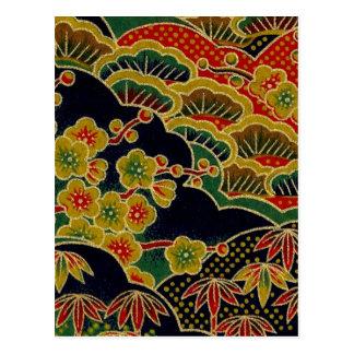 Japanese Traditional kimono Pattern Postcards