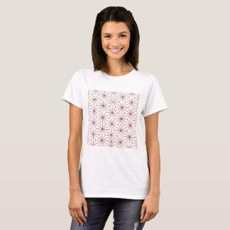 """Japanese traditional pattern """"ASANOHA"""" T-Shirt"""