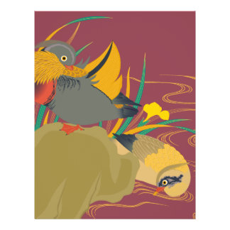 Japanese traditional pattern - Colorful bird 21.5 Cm X 28 Cm Flyer