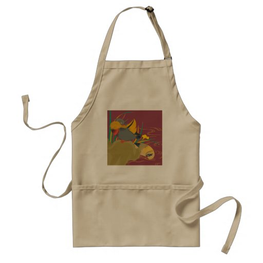 Japanese traditional pattern - Colorful bird Apron