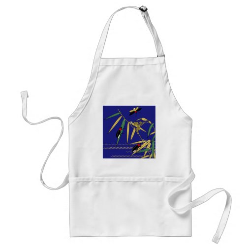 Japanese traditional pattern - Firefly of summer Aprons