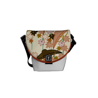 Japanese traditional pattern - MOMIJI Courier Bag