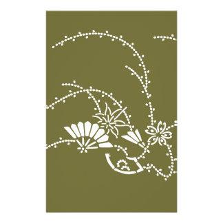 Japanese traditional pattern - sakura sensu チラシ