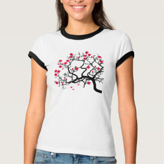 Japanese tree red flowers T-Shirt