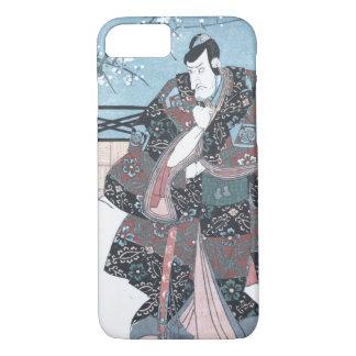 Japanese Ukiyo-e Winter Kabuki Actor by Kunisada iPhone 8/7 Case