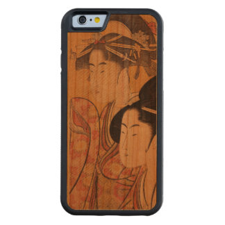 Japanese Ukiyo-e Woodblock Print Series Three Carved Cherry iPhone 6 Bumper Case