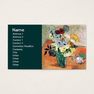 Japanese Vase Roses Anemones Van Gogh Fine Art