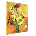 Japanese Vase with Roses and Anemones by van Gogh Canvas Prints