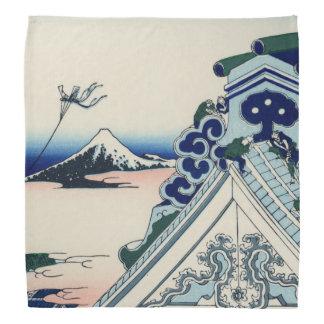 Japanese Vintage Art Fuji from Honganji Temple Kerchiefs