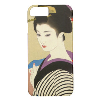Japanese vintage beauty geisha lady woman Maiko iPhone 7 Case