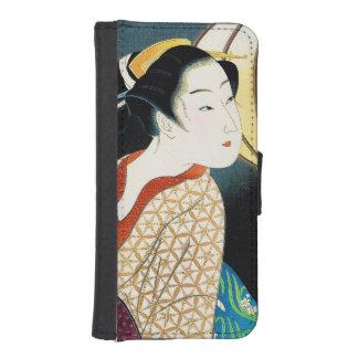 Japanese vintage beauty geisha lady woman Maiko iPhone SE/5/5s Wallet Case