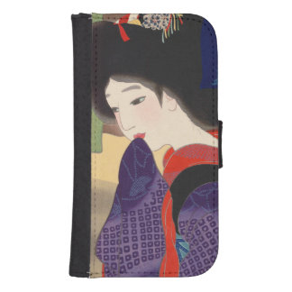 Japanese vintage beauty geisha lady woman Maiko Samsung S4 Wallet Case