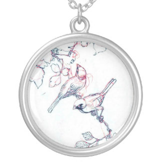 Japanese Vintage Bird Ink Painting Necklaces