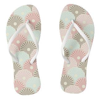 Japanese vintage pattern flip flops