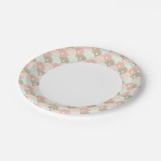 Japanese vintage pattern paper plate