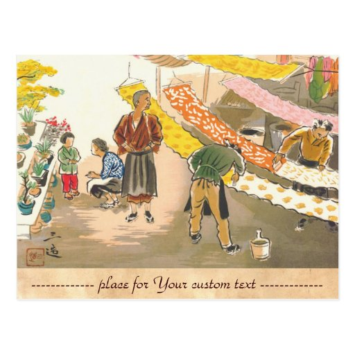 Japanese Vocations in Pictures, Dying Shop Postcards