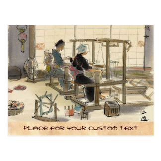 Japanese Vocations In Pictures Women Weavers Post Card