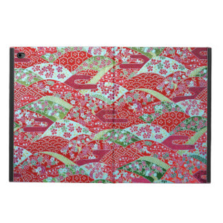 Japanese Washi Art Red Floral Origami Yuzen