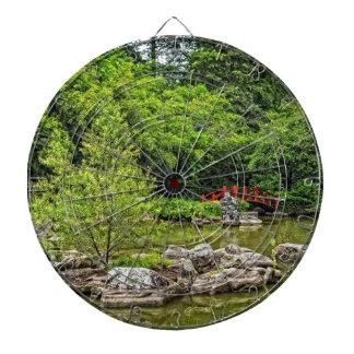 Japanese Water Garden Dartboard With Darts