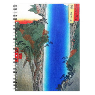 Japanese Waterfall Spiral Note Book