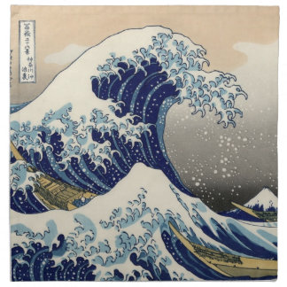 Japanese Wave Cloth Napkins