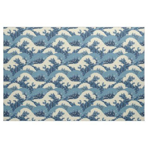 Japanese wave pattern fabric