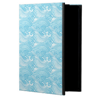 Japanese Waves Pattern in Ocean Colors Cover For iPad Air
