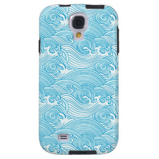 Japanese Waves Pattern in Ocean Colors Galaxy S4 Case