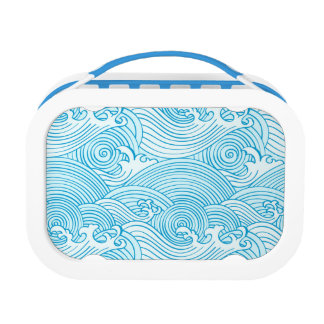Japanese Waves Pattern in Ocean Colors Lunch Box