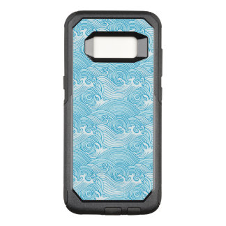 Japanese Waves Pattern in Ocean Colors OtterBox Commuter Samsung Galaxy S8 Case