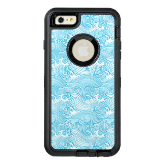 Japanese Waves Pattern in Ocean Colors OtterBox iPhone 6/6s Plus Case